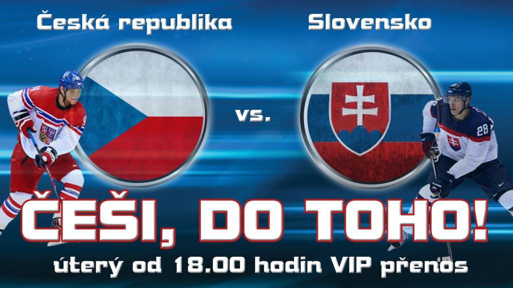 Přímý přenos zápasu Česko – Slovensko už dnes v podvečer Na Karmeli