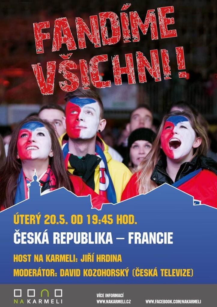 Poslední zápas ve skupině – přijďte podpořit Čechy proti Francii!