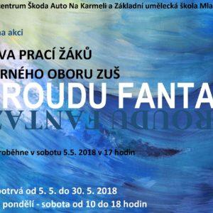 Výstava V proudu fantazie – práce žáků výtvarného oboru ZUŠ Mladá Boleslav